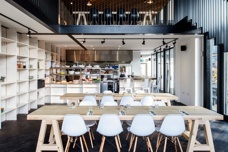 Tilt completes its first gallery restaurant on regent 39 s canal - Open mezzanine ...