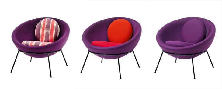 Bowl chair by lina bo bardi for arper for Lina bo bardi bowl