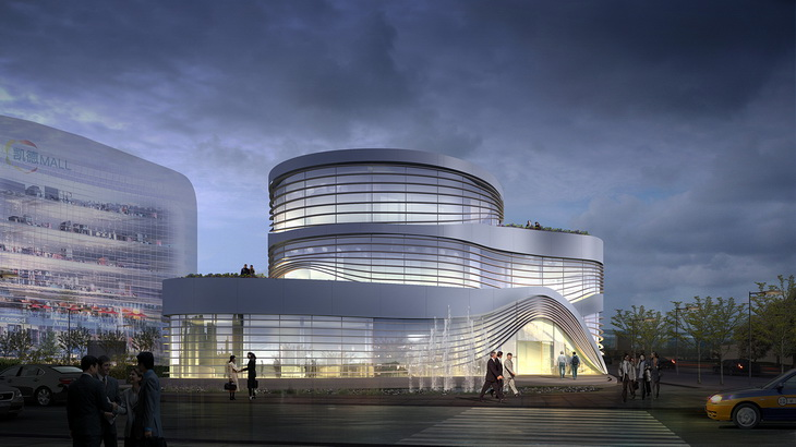 Daxing Shopping Mall Showroom By LATITUDE