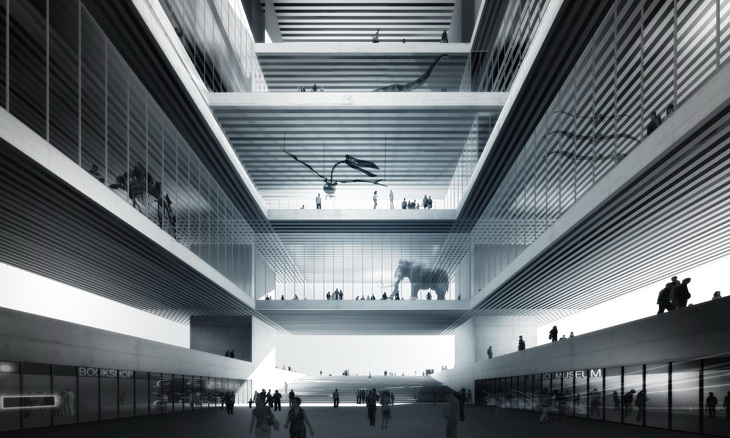 3th Prize Natural City Museum By Comac