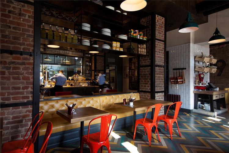 Pasta basta restaurant by soboleva storozhuk design for Cuisine designer italien