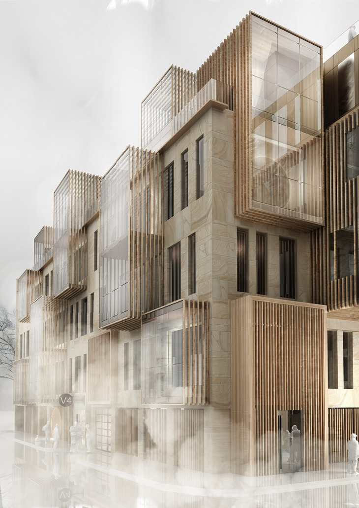 New apartment building in unesco world heritage site in for Latest apartment designs