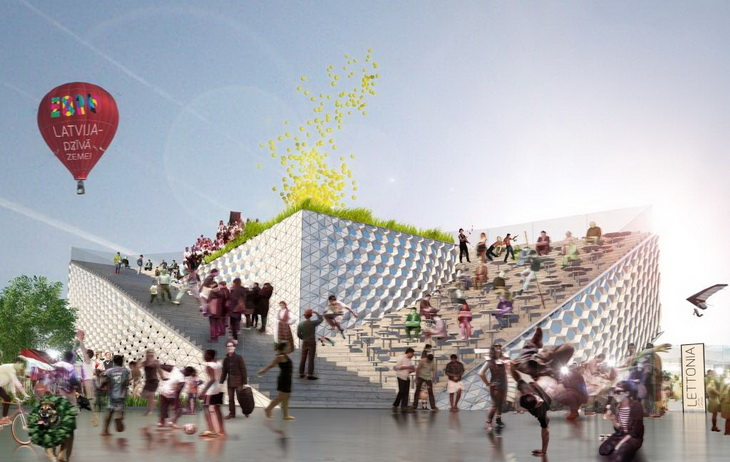 Milan expo 2015 latvian pavilion proposal by united riga for Home decor expo 2015
