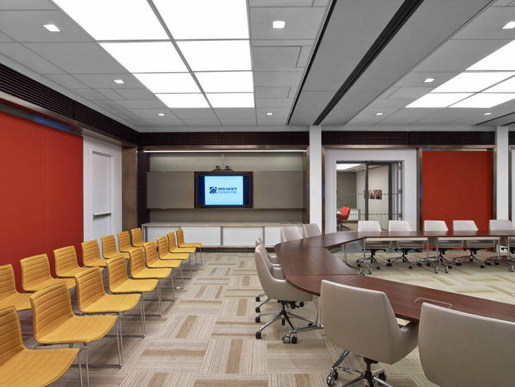 Open society foundations 39 nyc office by tirmizi campbell for Interior design society