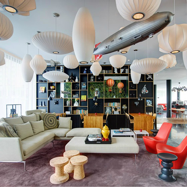 51 Modern Living Room Design From Talented Architects: Citizen M Paris By Concrete Amsterdam