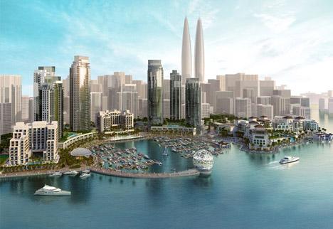 Dubai-Creek-Harbour-twin-towers-by-Emaar-Properties-and-Dubai-Holdings_archiscene_BN02