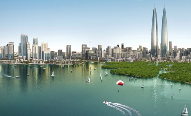 Dubai-Creek-Harbour-twin-towers-by-Emaar-Properties-and-Dubai-Holdings_archiscene_BN06