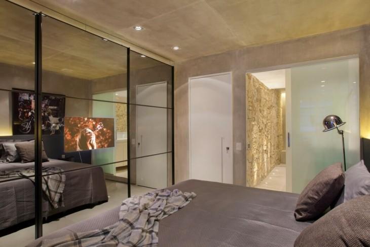 Rio apartment by studio ro ca - Designer woonkamer spiegel ...