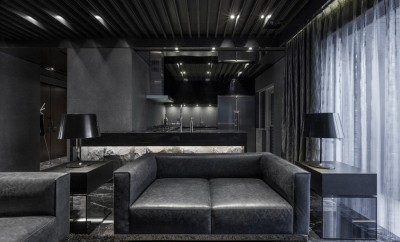 All Black Apartment By Atelierii Just Make Design