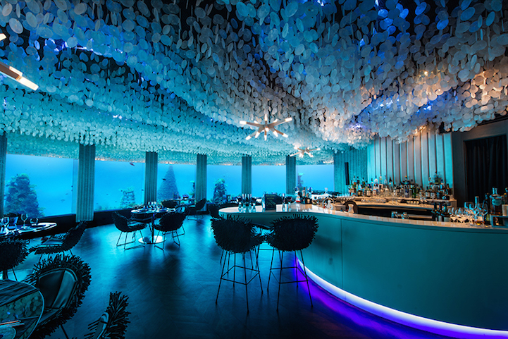 Amazing underwater Restaurant by By Poole Associates