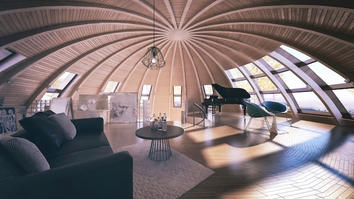 dome home interior design skydome contemporary dome houses from russia 17398