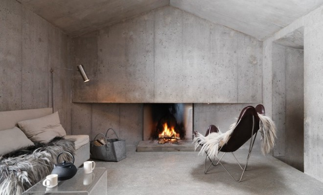Concrete Cottage in the Swiss Alps