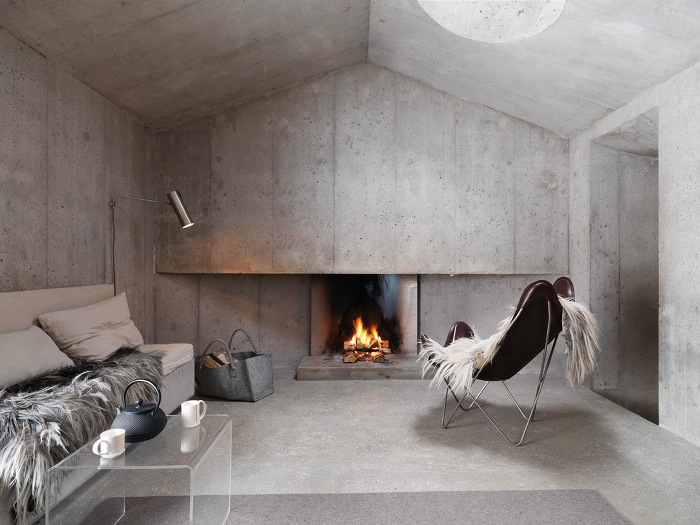 Concrete Cottage In The Swiss Alps Archiscene Your