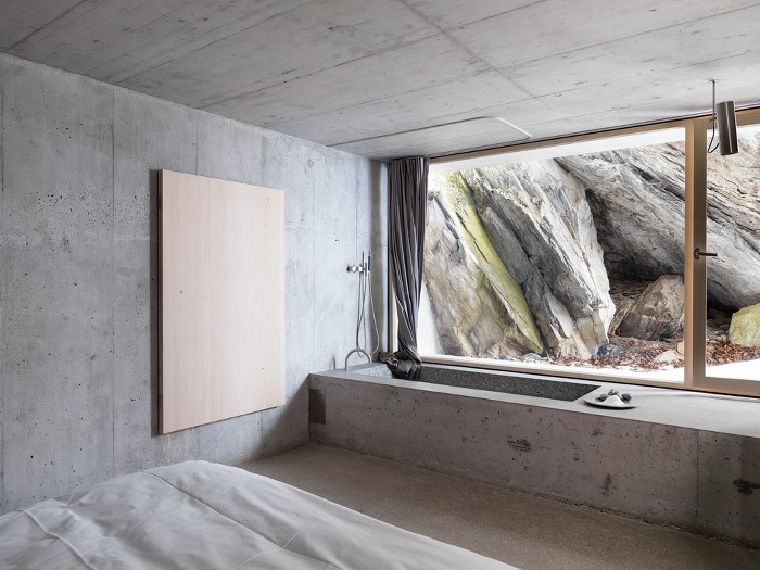 Concrete cottage in the swiss alps archiscene your for Design hotels alps