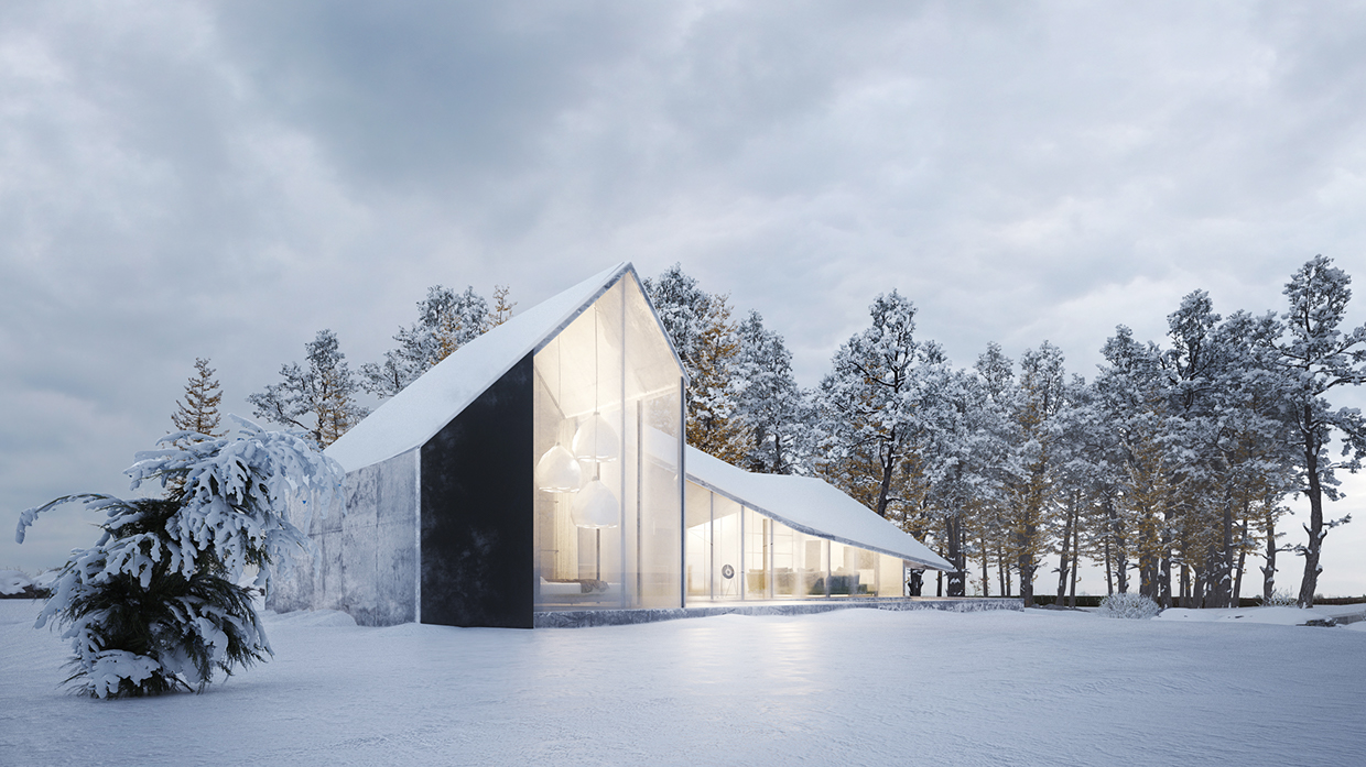 Winter House By Sergey Makhno Architects Archiscene