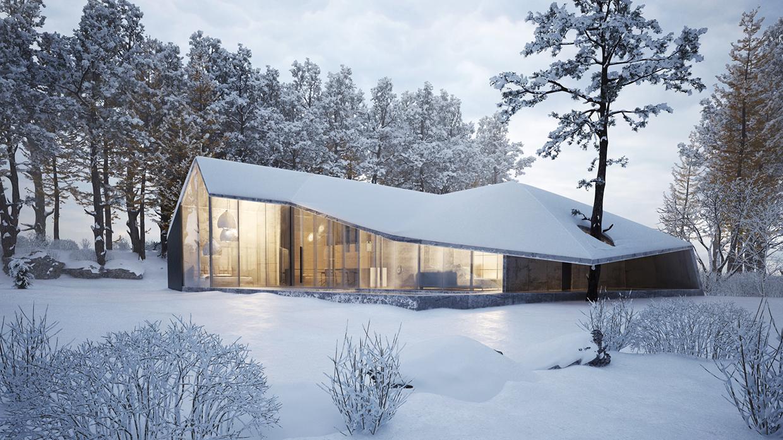 Winter house design
