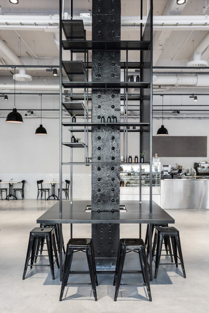 usine restaurant interior by richard lindvall archiscene. Black Bedroom Furniture Sets. Home Design Ideas