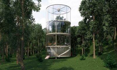 Tubular glass house by aibek almassov archiscene your daily architecture design update - The tubular glass house ...
