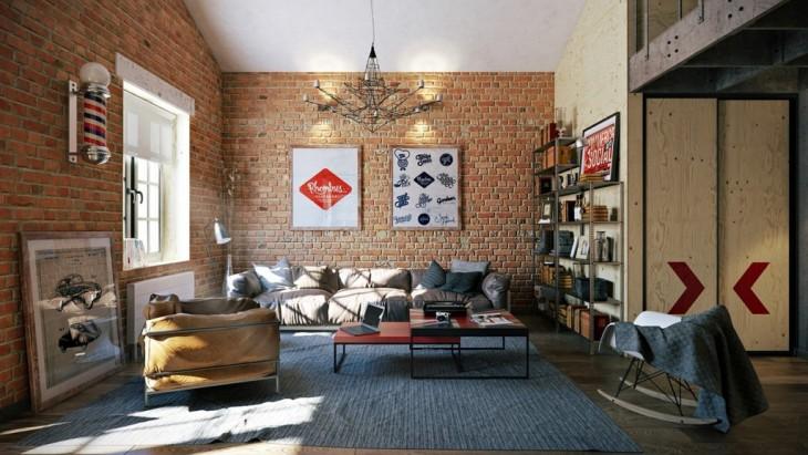 Loft Apartment by Pavel Vetrov
