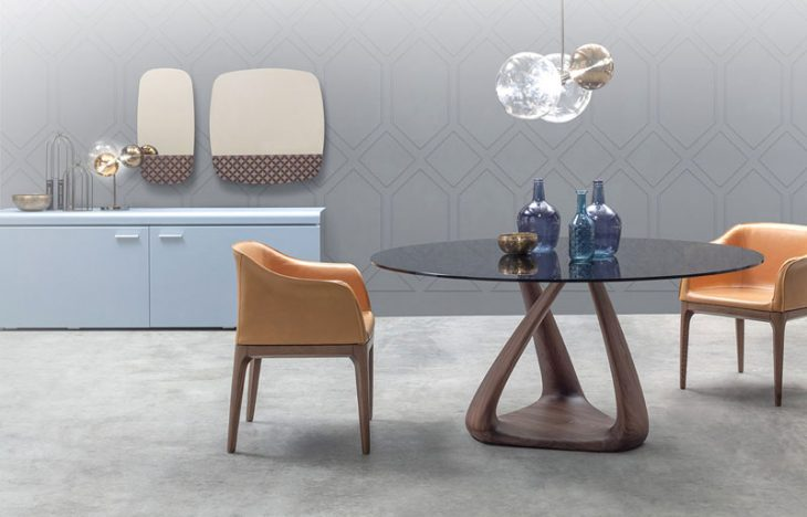 Glass Top Dinning Table by Angelo Tomaiuolo