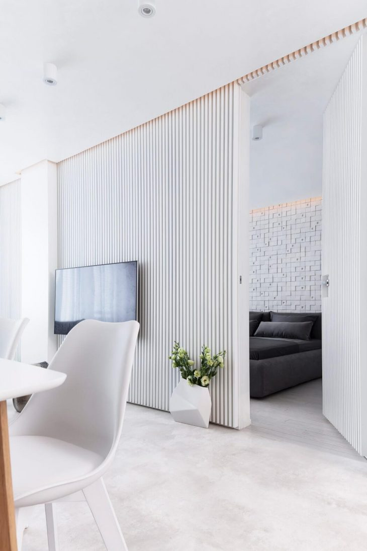 White Apartment By Pavel Yanev Archiscene Your Daily