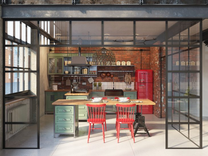 Industrial Loft By Golovach Tatiana Andrey Kot Archiscene Your Dail