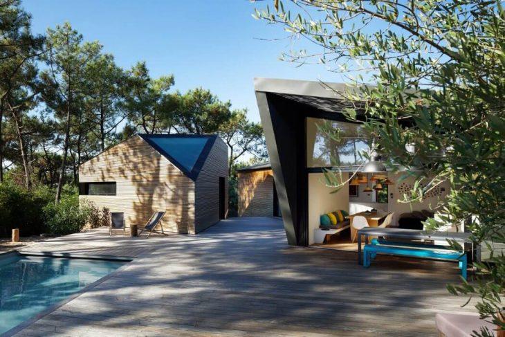 cabane au cap ferret by atelier du pont archiscene your daily architecture design update. Black Bedroom Furniture Sets. Home Design Ideas
