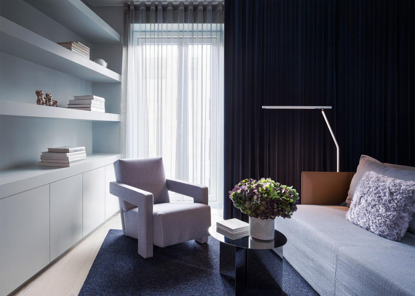modern copenhagen apartment by david thulstrups studio. Black Bedroom Furniture Sets. Home Design Ideas