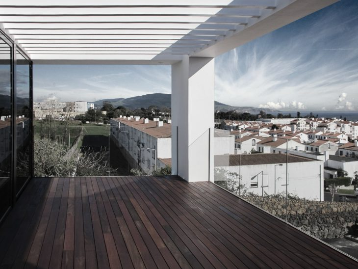 Exposed To The South The RM House Floats Over The City Of Ponta Delgada And  The Sea. The Shape Of The Lot, Narrow And Rectangular, With A Strong Slope,  ...