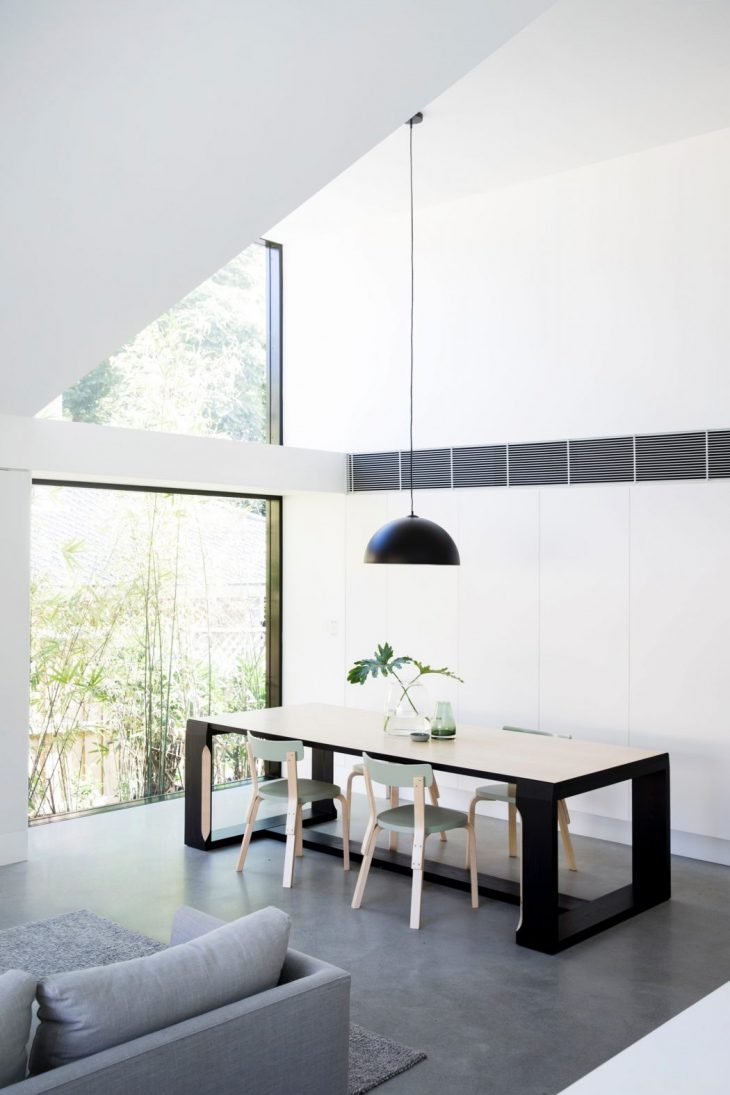 Suspended table by berstein architects - The Project Sought To Re Work The Footprint Of An Existing 1930s Californian Bungalow Without Compromising The Character Of The Original Home