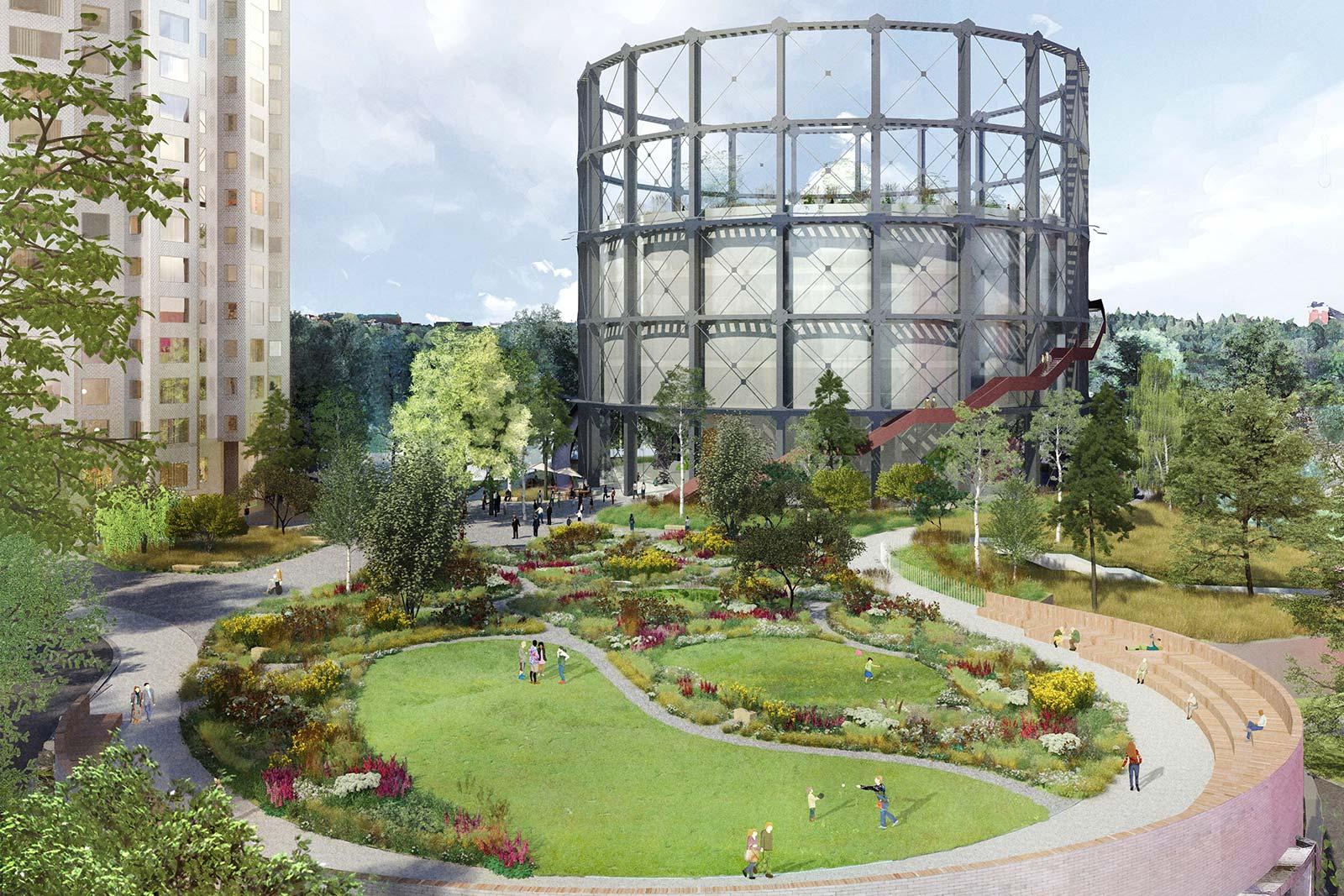 Gasklockan in stockholm landscape design by piet oudolf for Piet oudolf landscape architect