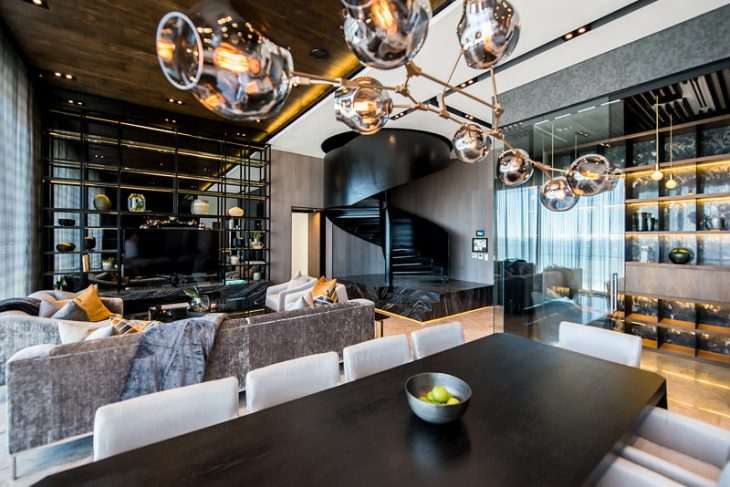 Inhouse Designed The Three Bedroomed, Double Storey Penthouse Apartment Of  The Fairmont In Sea Point, Cape Town, South Africa. The Interior Was ...