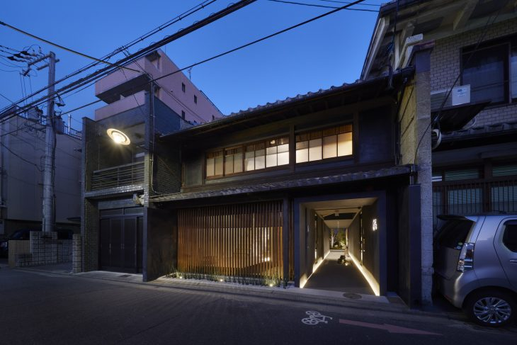 Guest House In Kyoto Blue Architecture Design Studio - Architecture-design-in-kyoto-japan