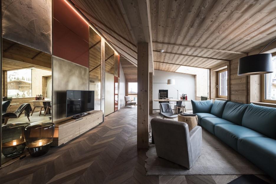 Penthouse in the italian dolomites by vudafieri saverino - Penthouse luxe missoni home ...