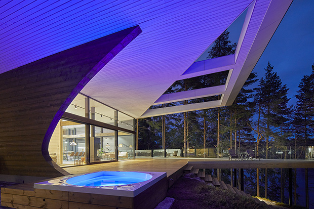 From the architects wave is a new generation log home manufactured by polar life haus a finnish wooden house manufacturing company