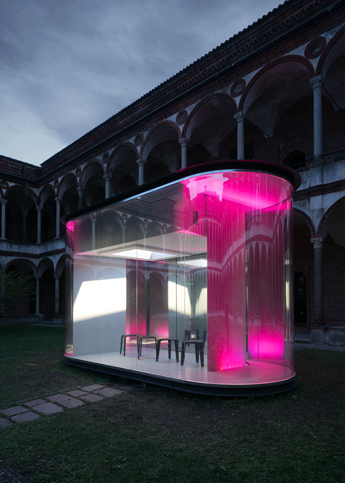 Inside the ancient cortile dei bagni courtyard architect filippo taidelli of fta studio stages a vision of the future in the relationship between man