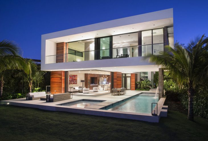 Hibiscus island residence by choeff levy fischman for Florida residential architects