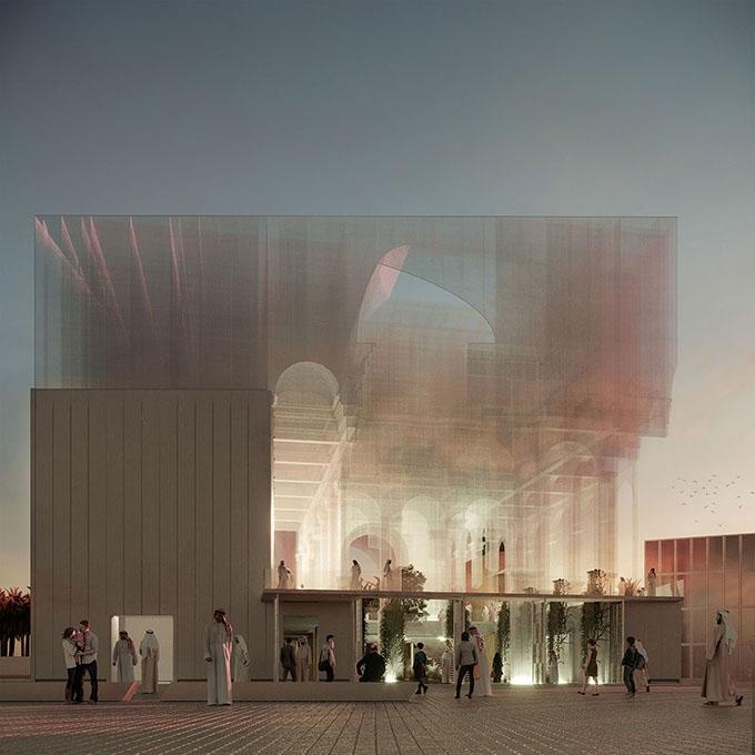 Italian Pavilion of Expo 2020 Dubai Project by Dodi Moss and Edoardo Tresoldi