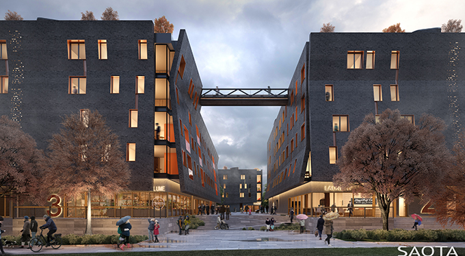 SAOTA announced as Winners of the Architectural Competition for the new Neuländer Quarree Precinct in Hamburg