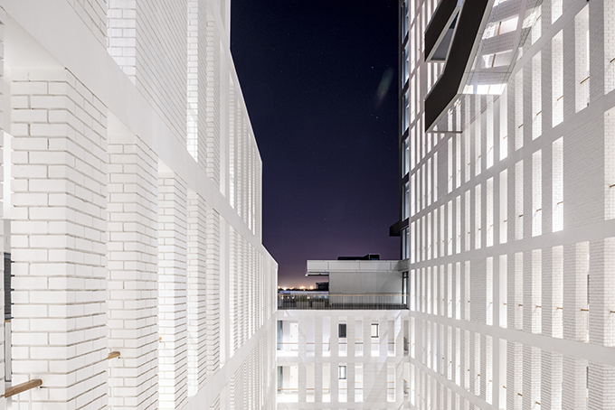 Axis - Sculpted Monolithic Apartment Block by dhk