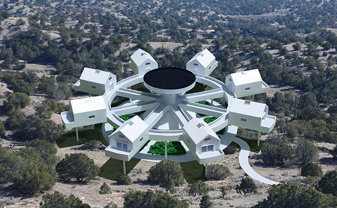 The Wheelhouse Compound by Michael Jantzen