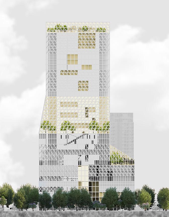 Futian Civic Culture Center by Mecanoo Architekten
