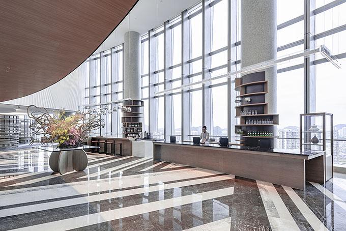 Modern Hotel Reception Desk