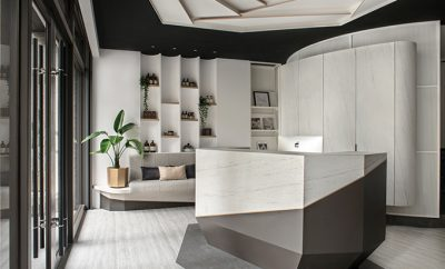 Mute White Salon by Han Yue Interior Design Co., Ltd.