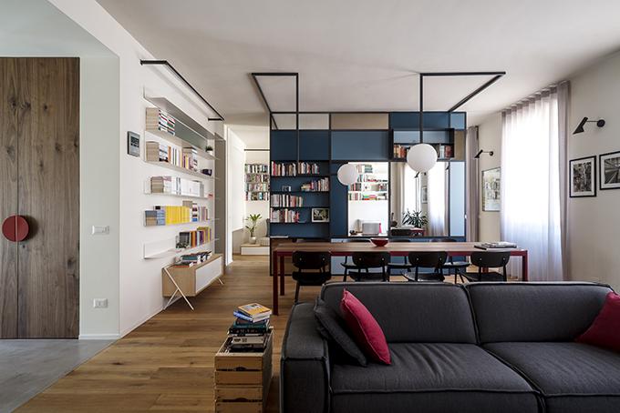 The writer's machine: Turin apartment rehabilitation by Studio Doppio