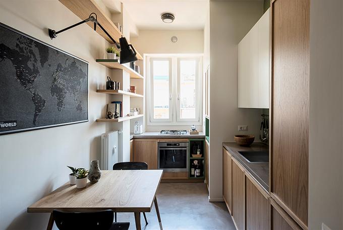 The writer's machine Turin apartment rehabilitation by Studio Doppio