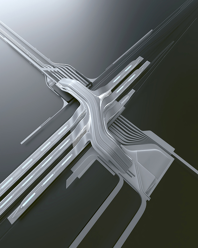 Ülemiste Terminal Competition Winning Project by Zaha Hadid Architects & Esplan