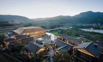 Fuzhou Taihe Qingyun Sales Center by Shanhejinyuan Art Design