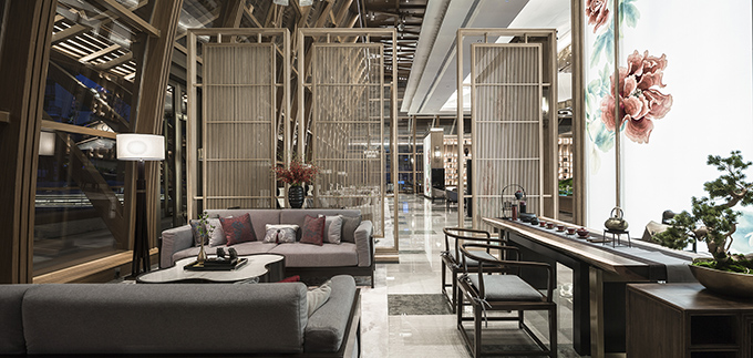 Fuzhou Taihe Qingyun Sales Center by Shanhejinyuan Art Design