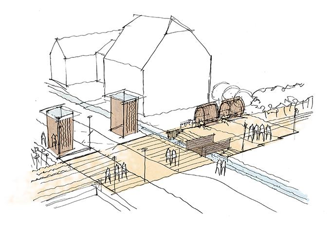 Portes Bonheur, le Chemin des Carrières by Reiulf Ramstad Arkitekter